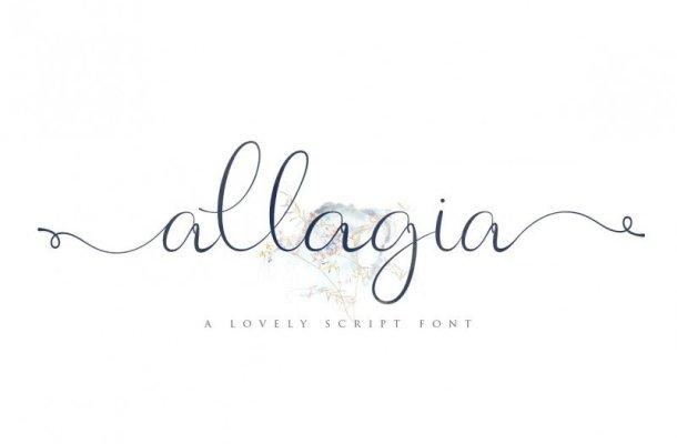 Allagia Script Font Free