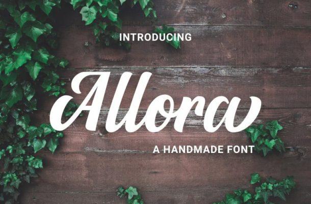 Allora Script Font Free
