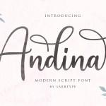 Andina Script Font Free