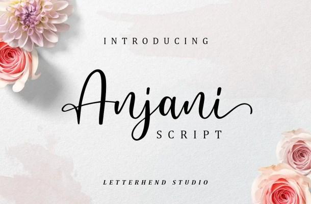 Anjani Script Font Free