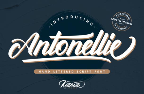 Antonellie Calligraphy Font Free