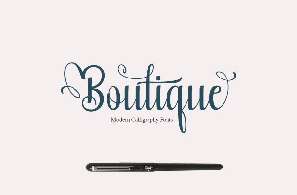 Boutique Calligraphy Font Free