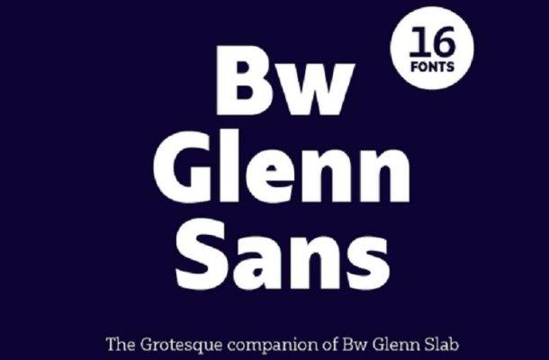 Bw Glenn Sans Font Family