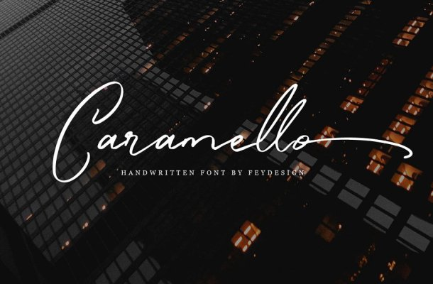 Caramello Handwritting Font Free