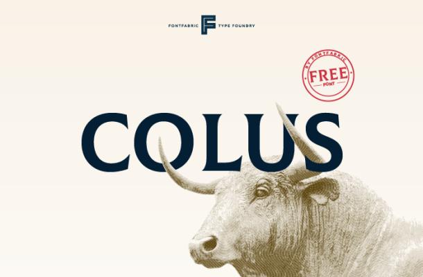 Colus Typeface Free