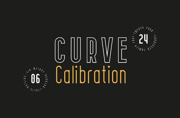 CURVE Calibration Typeface Free