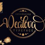 Dealova Script Font Free