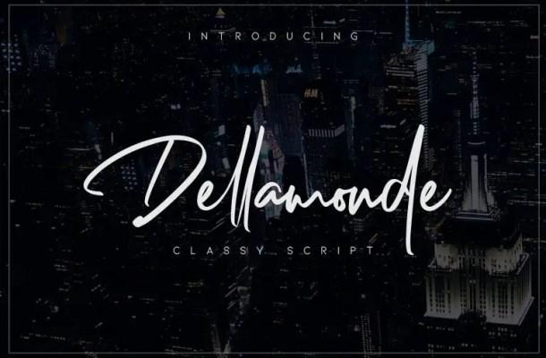 Dellamonde Script Font Free