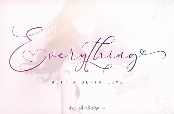 Everything Calligraphy Font Free