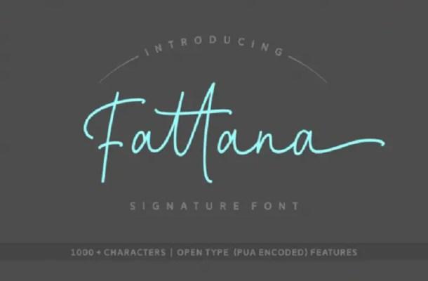 Fattana Script Font Free