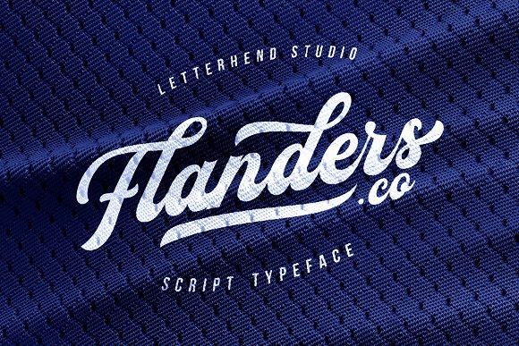 Flanders Script Typeface Free