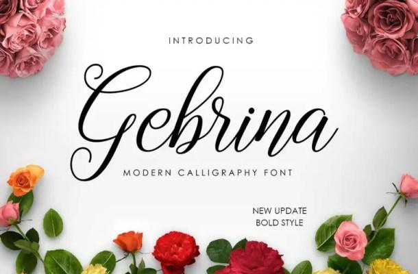 Gebrina Calligraphy Font Free
