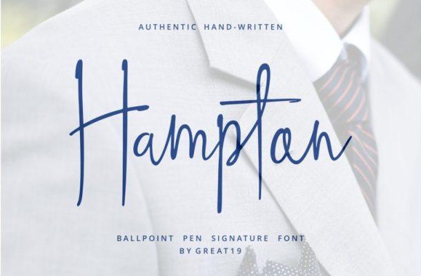 Hampton Handwriting Font Free