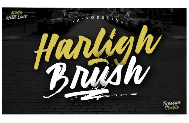 Harligh Brush Font Free