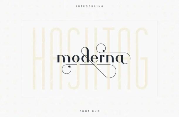 Hashtag Moderna Font Duo Free