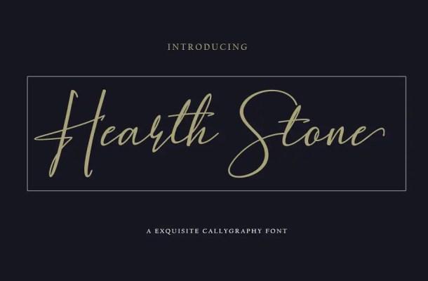 Hearth Stone Script Font Free