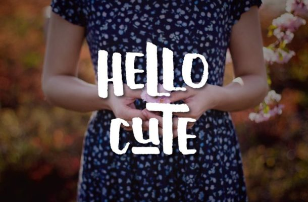 Hello Cute Typeface Free