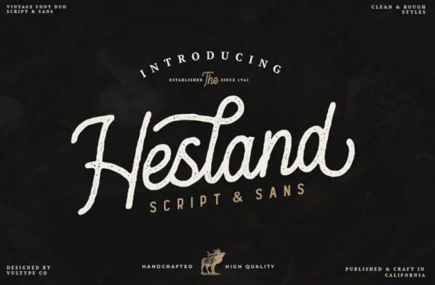 Hesland Vintage Font Duo