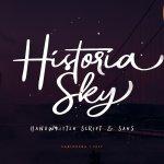 Historia Sky Script Font Free