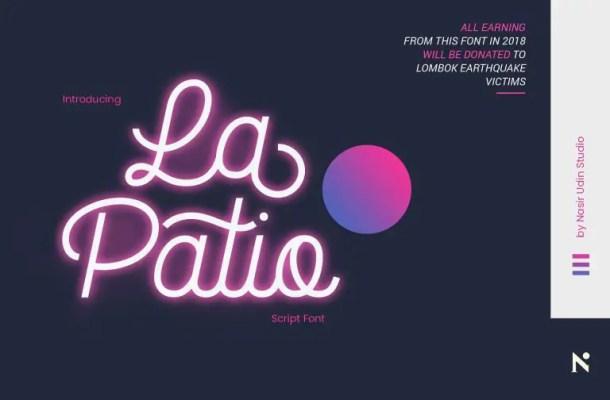 La Patio Script Font Free