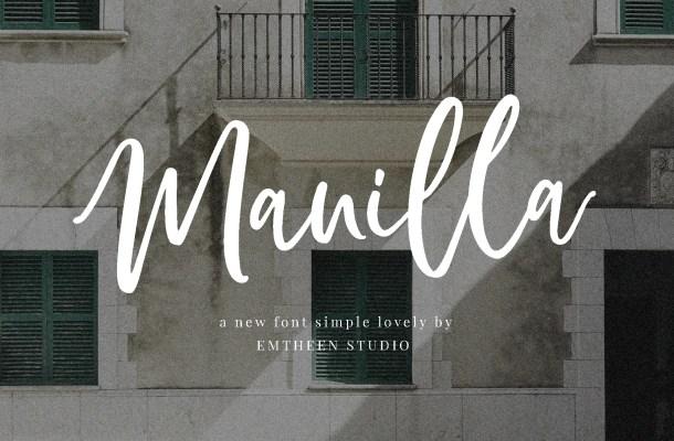 Manilla Script Font Free