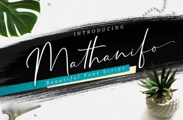 Mathanifo Script Font Free