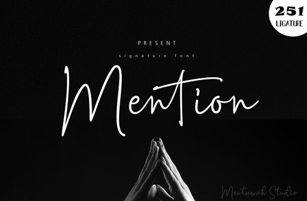 Mention Signature Font Free