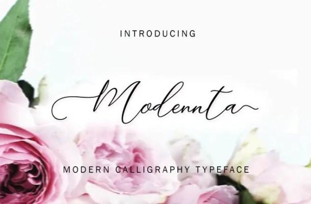 Modennta Script Font Free
