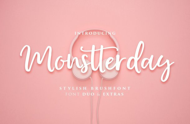 Monstterday Script Font Free