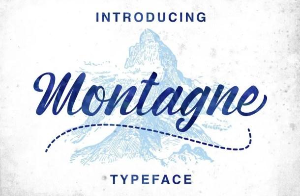 Montagne Script Font Free