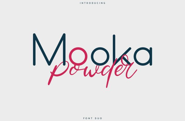 Mooka Powder Font Duo Free