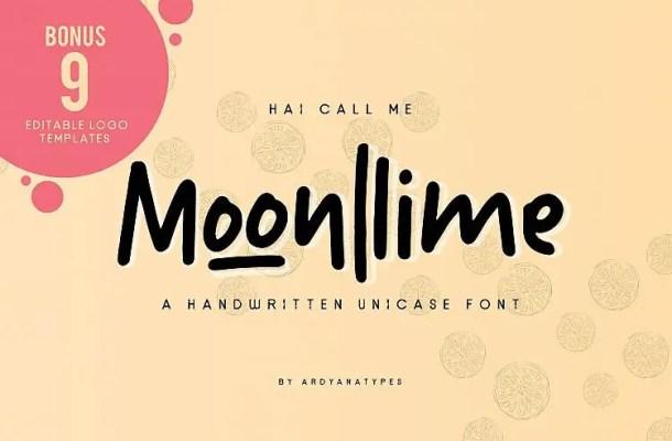 Moonllime Script Font Free