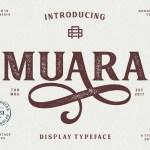 Muara Rough Typeface Free