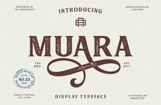 Muara Rough Typeface Free