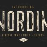 Nordin Vintage Font Family Free