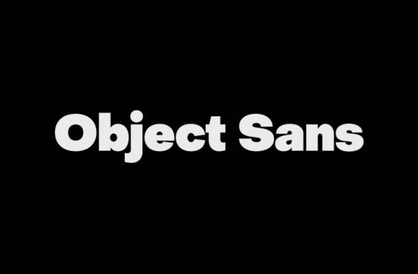 Object Sans Font Family Free