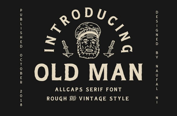 Old Man Typeface Free