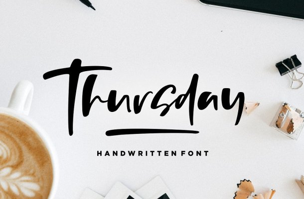 Thursday Vibes Brush Font Free