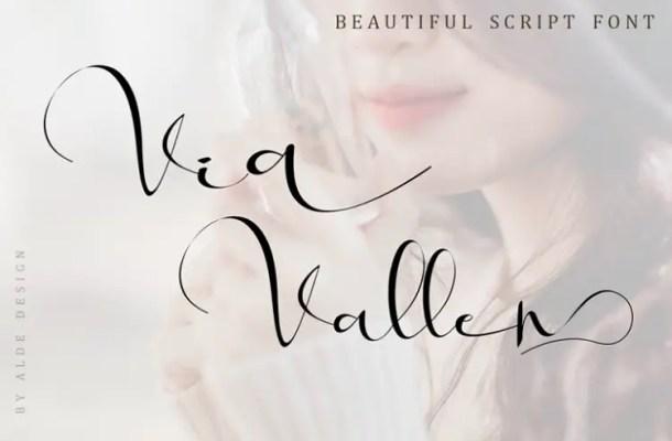 Via Vallen Calligraphy Font Free