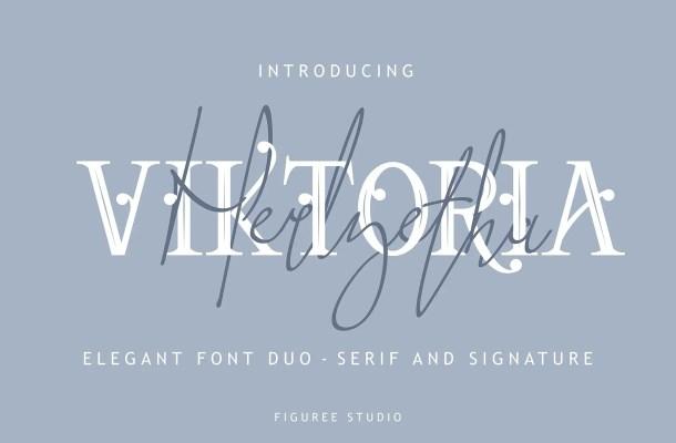 Viktoria Elegant Font Duo Free
