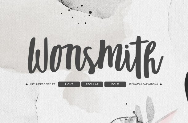 Wonsmith Script Font Trio Free