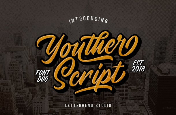 Youther Script Font Free