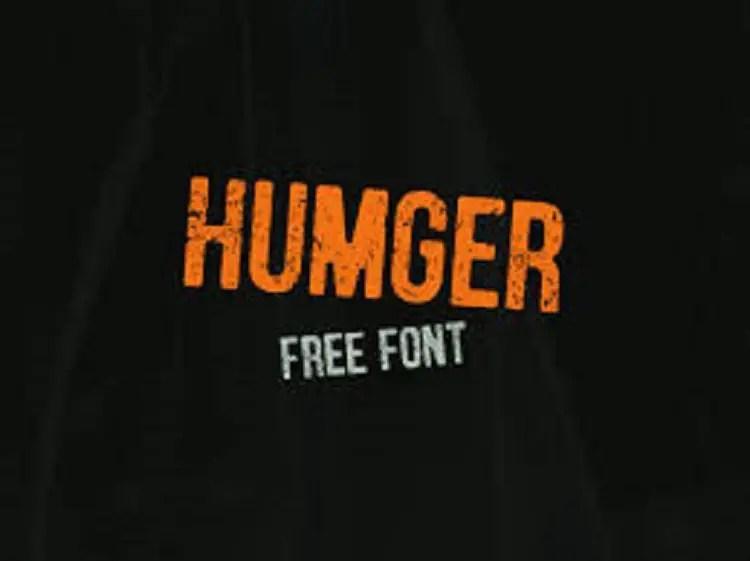 Humger Font Free1