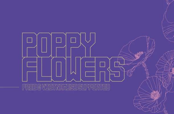 Poppy Flowers Typeface Free