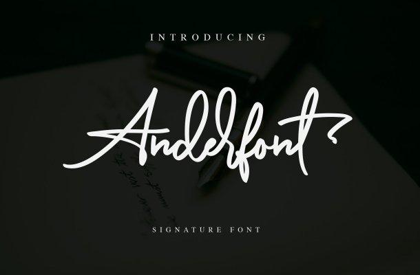 Anderfont Signature Font Free