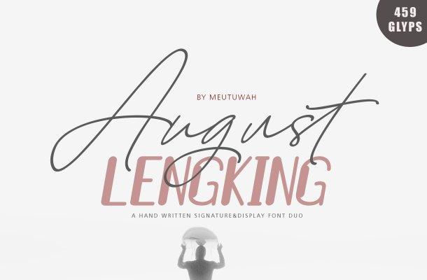 August Script Font Free