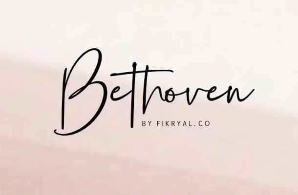 Bethoven Handwritten Font Free