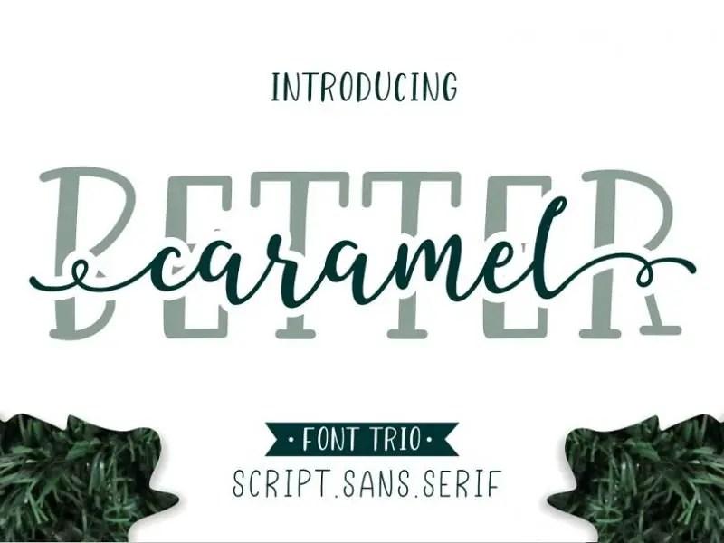 better-caramel-font-trio-800x600
