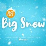 Big Snow Script Font Free