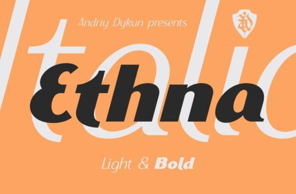 Ethna Typeface Free